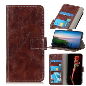 For Motorola Moto E6 Plus Retro Crazy Horse Texture Horizontal Flip Leather Case with Holder & Card Slots & Wallet & Photo Frame(Brown)
