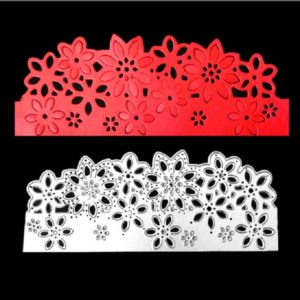 Flower Border Knife Mold Hollow Paper Art Greeting Card Cutting Book Cutting Stencil