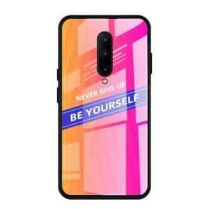 For OnePlus 7 Pro Shockproof PC + TPU + Glass Protective Case(Pink)