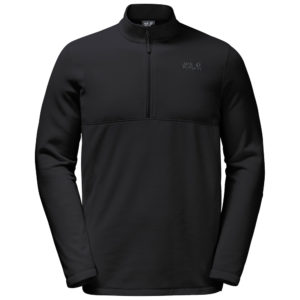 ΜΠΛΟΥΖΑ Fleece ΑΝΔΡΙΚΗ -GECKO Fleece jumper men (black )- JACK WOLFSKIN
