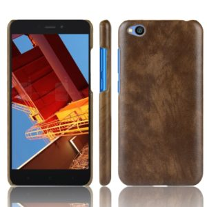 Shockproof Litchi Texture PC + PU Protective Case for Xiaomi Redmi Go (Brown)