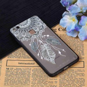 For Huawei P10 Lite Feather Pattern TPU + PC Full Coverage Protective Back Case