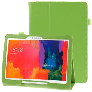 Litchi Texture Leather Case with Holder for Galaxy Tab Pro 10.1 / T520(Green)