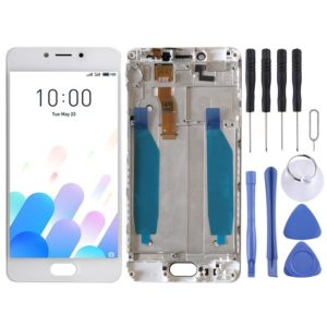 LCD Screen and Digitizer Full Assembly with Frame for Meizu Meilan A5 / M5c (White)