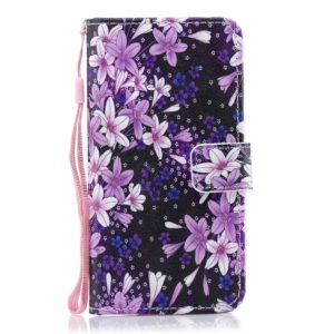 Lily Pattern Horizontal Flip Leather Case for Galaxy M20, with Holder & Card Slots & Wallet