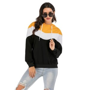 Fashion Stitching Hooded Sweatshirt (Color:As Show Size:M)