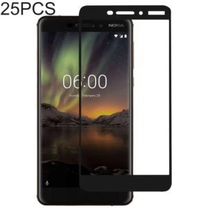 25 PCS Full Glue Full Cover Screen Protector Tempered Glass film for Nokia 6.1 / 6 (2018) / 6 (2nd Gen)