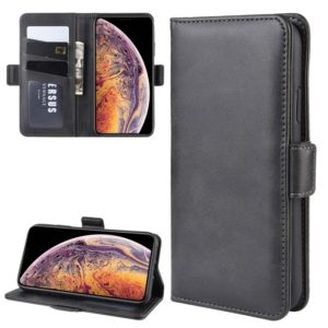 Dual-side Magnetic Buckle Horizontal Flip Leather Case for iPhone 11 Pro Max, with Holder & Card Slots & Wallet & Photo Frame(Black)