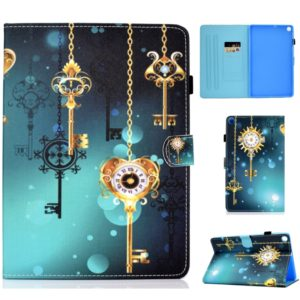Colored Drawing Pattern Horizontal Flip PU Leather Case with Holder & Card Slots & Sleep / Wake-up Function for Galaxy Tab S5e 10.5 / T720 / T725(Antique Clock)