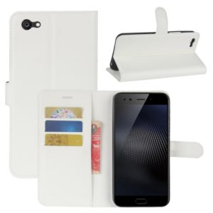 For Vivo X9s Plus Litchi Texture Horizontal Flip Leather Case with Holder & Card Slots & Wallet (White)