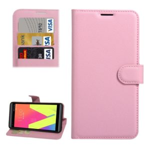 For LG V20 Litchi Texture Horizontal Flip Leather Case with Holder & Card Slots & Wallet(Pink)