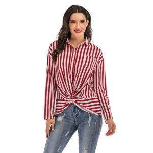 Fashion Personality Long-sleeved Shirts (Color:Red Size:M)