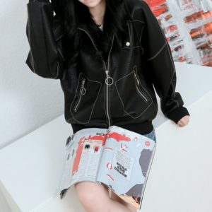 Loose Women Motorcycle Leather Jacket