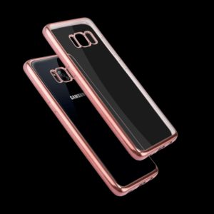 For Galaxy S8 Electroplating Frame Soft TPU Protective Case(Rose Gold)