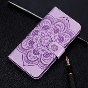 Mandala Embossing Pattern Horizontal Flip Leather Case for Samsung Galaxy A70, with Holder & Card Slots & Wallet & Photo Frame & Lanyard(Purple)