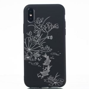 TPU Protective Case for iPhone XS Max(Lotus pond)