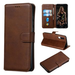 For Xiaomi Mi CC9 / Mi A3 Lite Classic Calf Texture Horizontal Flip PU Leather Case, with Holder & Card Slots & Wallet(Brown)