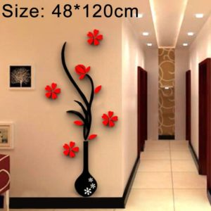 Creative Vase 3D Acrylic Stereo Wall Stickers TV Background Wall Corridor Home Decoration, Size: 48x120x4cm