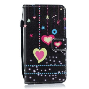 Colorful Heart Pattern Horizontal Flip Leather Case for Xiaomi Redmi 7, with Holder & Card Slots & Wallet