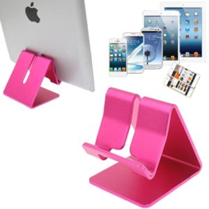 Aluminum Stand Desktop Holder, For iPad, iPhone, Galaxy, Huawei, Xiaomi, HTC, Sony, and other Mobile Phones or Tablets(Pink)