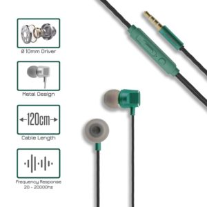 Metal Stereo Handsfree MINGEE M14 Green