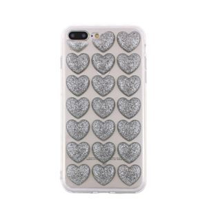 SPD TPU HEARTS IPHONE 7 / 8 / SE (2020) SILVER backcover