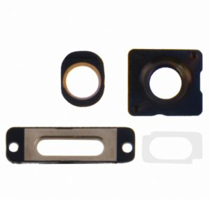 4 in 1 for iPhone 5S (Camera Outer Glass Lens + Camera Lens Ring + Charging Port Ring + Headphone Jack Ring) Repair Part Kit(Gold)