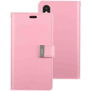GOOSPERY RICH DIARY Crazy Horse Texture Horizontal Flip Leather Case for iPhone XS Max, with Card Slots & Wallet (Pink) (GOOSPERY)