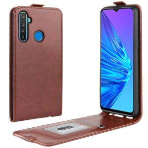 For OPPO Realme 5 Crazy Horse Vertical Flip Leather Protective Case(Brown)