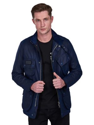 Barbour Intl Coloured SL International Waxed Ανδρικό Jacket MWX1711NY72 - Μπλέ