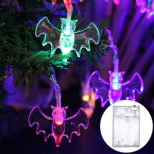 2.5m Bat Design Halloween Series LED String Light, 20 LEDs 3 x AA Batteries Box Operated Party Props Fairy Decoration Night Lamp