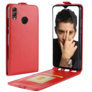 Business Style Vertical Flip Leather Protective Back Cover Case for Huawei Honor 8X, with Card Slot(Red)