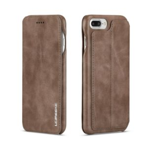 For iPhone 8 Plus / 7 Plus Hon Ancient Series Leather Case with Card Slots & Holder & Wallet(Coffee) (LC.IMEEKE)
