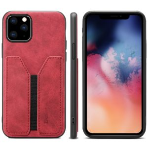 PU + TPU Protective Case with Card Slots for iPhone 11 Pro Max(Red)