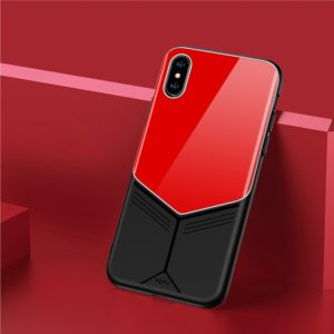 TOTUDESIGN Grace Series TPU + PC + Glass Protective Case for iPhone X / XS (Red) (TOTUDESIGN)