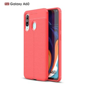Litchi Texture TPU Shockproof Case for Galaxy A60(Red)
