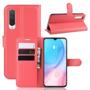 Litchi Texture Horizontal Flip Leather Case for Xiaomi Mi CC9, with Wallet & Holder & Card Slots(Red)