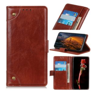 For Galaxy M30s / M21 Copper Buckle Nappa Texture Horizontal Flip Leather Case with Holder & Card Slots & Wallet(Brown)