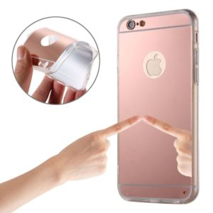 Electroplating Mirror TPU Protective Case for iPhone 6 Plus & 6s Plus(Pink)