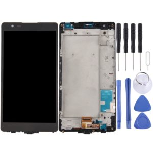 LCD Screen and Digitizer Full Assembly with Frame for LG X Power / K220 (Black)