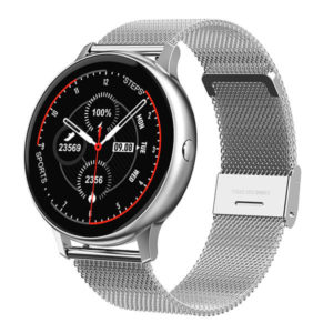 Smartwatch No.1 DT88 Pro Blood Oxygen Pressure Heart Rate Monitor - Steel Silver
