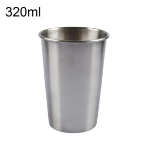 320ml Single Wall Electropolished Stainless Steel Brief Wine Cup(Silver)