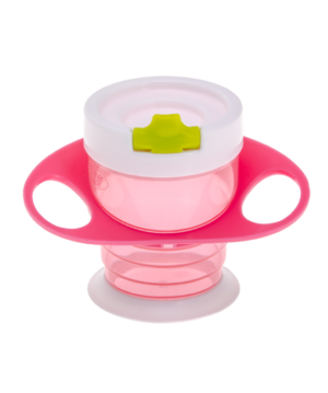 Brother Max Easy Hold Sippy Cup – Εκπαιδευτικό Ποτηράκι 4 σε 1 Pink