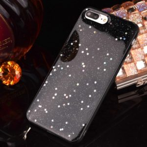 For iPhone 8 Plus & 7 Plus Epoxy Dripping Black Starry Soft TPU Protective Case Back Cover