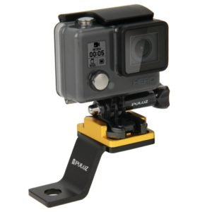 PULUZ Fixed Metal Motorcycle Holder Mount for GoPro HERO8 Black / Max / HERO7, DJI OSMO Action, Xiaoyi and Other Action Cameras(Gold) (PULUZ)