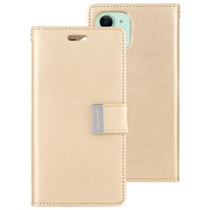 For iPhone 11 MERCURY GOOSPERY RICH DIARY Crazy Horse Texture Horizontal Flip Leather Case with Holder & Card Slots & Wallet(Gold) (GOOSPERY)