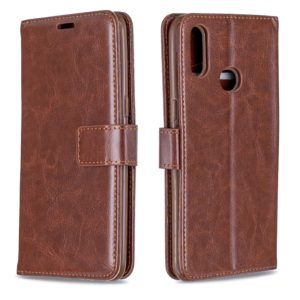 For Galaxy A10s Crazy Horse Texture Horizontal Flip Leather Case with Holder & Card Slots & Wallet & Photo Frame(Brown)