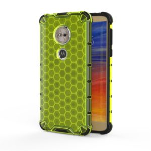For Motorola Moto E6 Play Shockproof Honeycomb PC + TPU Case(Green)