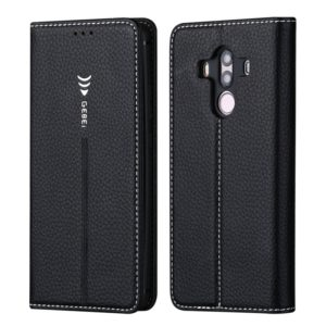 For Huawei Mate 10 Pro GEBEI PU+TPU Horizontal Flip Protective Case with Holder & Card Slots(Black) (GEBEI)