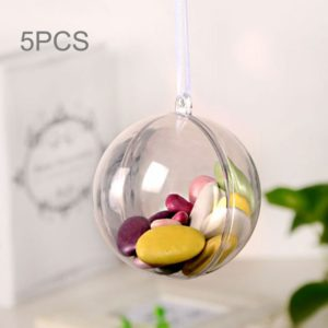 5 PCS Transparent Christmas Ball Hollow Plastic Sphere Ball Shaped Eternal Flower Ball Wedding Gifts Gift Box, Size: 4 x 4cm